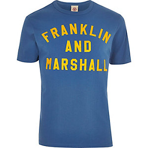Franklin & Marshall - Blauw T-shirt met print