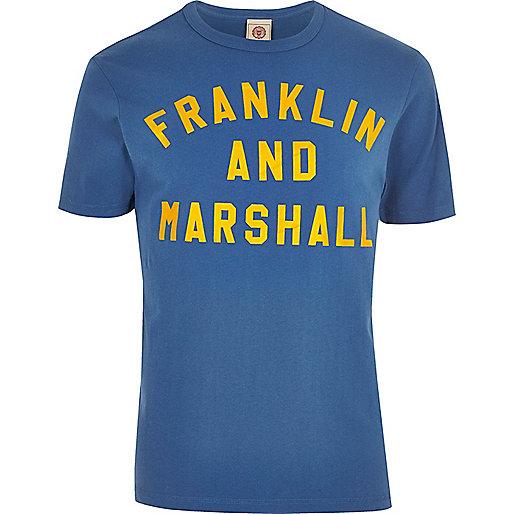 Blue Franklin & Marshall print T-shirt