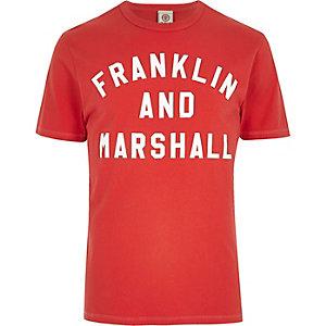 Franklin & Marshall - Rood T-shirt met print