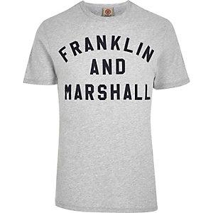 Franklin & Marshall - Grijs T-shirt met print