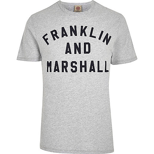 Grey Franklin & Marshall print T-shirt