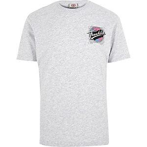 Grey marl Franklin & Marshall printed T-shirt