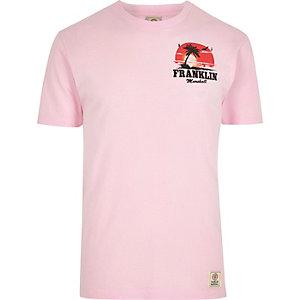 Franklin & Marshall – T-shirt imprimé palmiers rose