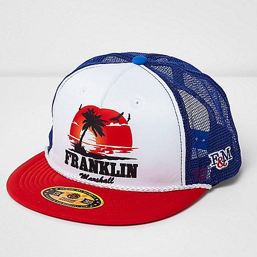 Red Franklin & Marshall print trucker cap