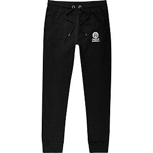 Franklin & Marshall - Pantalon de jogging en jersey noir