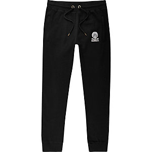 ​Franklin & Marshall - Zwarte jersey joggingbroek
