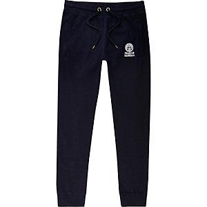 Franklin & Marshall - Pantalon de jogging en jersey bleu marine