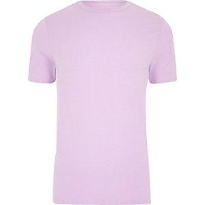 Muscle Fit T-Shirt in Lila mit Rundhalsausschnitt