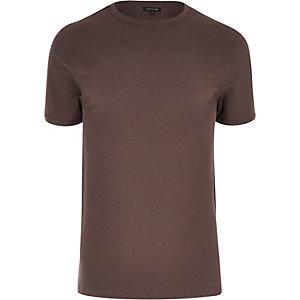 Kurzärmliges T-Shirt in Dunkelpink