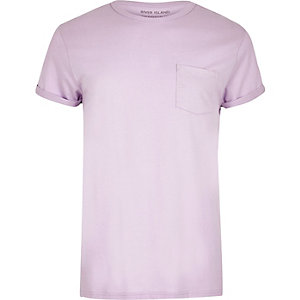 Light purple pocket T-shirt