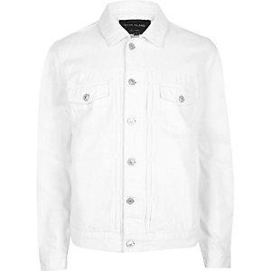 Veste en jean blanche décontractée