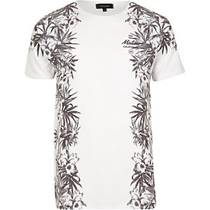 White floral Malibu print T-shirt