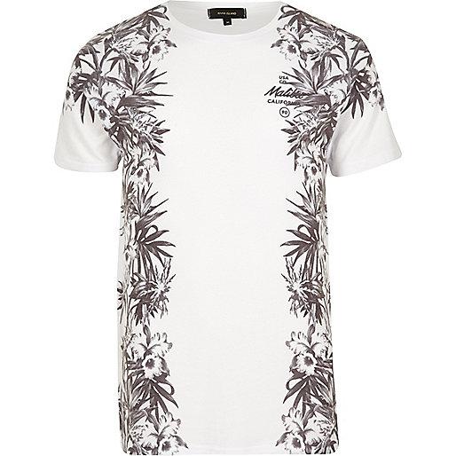 T-shirt imprimé Malibu à fleurs blanc