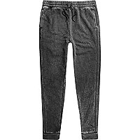 Dark grey burnout joggers