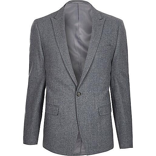 Light blue cropped skinny fit blazer