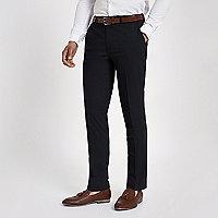 Marineblaue, elegante Slim Fit Anzugshose