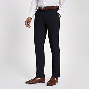 Navy slim fit smart pants