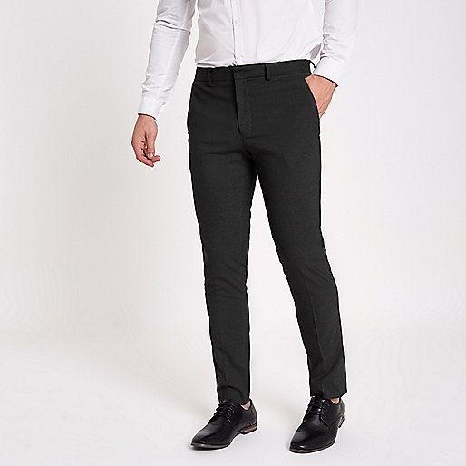 Grey skinny fit smart trousers