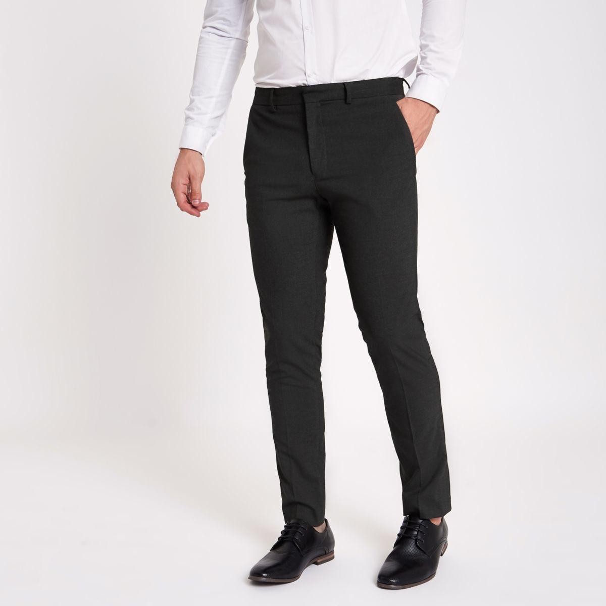 pantalon habill gris coupe skinny pantalons habill s. Black Bedroom Furniture Sets. Home Design Ideas