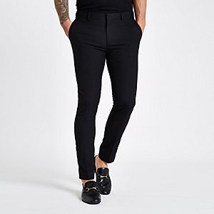 Pantalon habillé noir super skinny