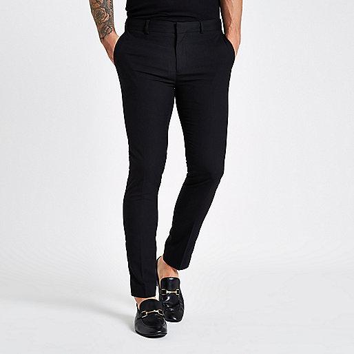 Black ultra skinny smart trousers