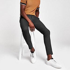 Graue, elegante Ultraskinny Hose