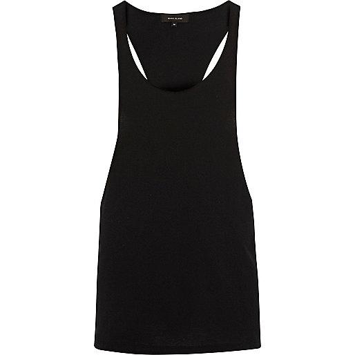 Black racer back muscle fit vest