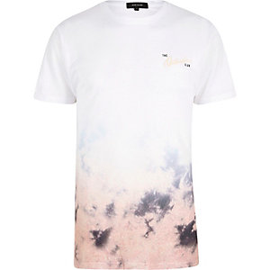 White and pink outsiders fade tie dye T-shir