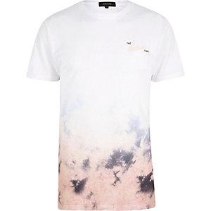 T-Shirt in Weiß und Pink