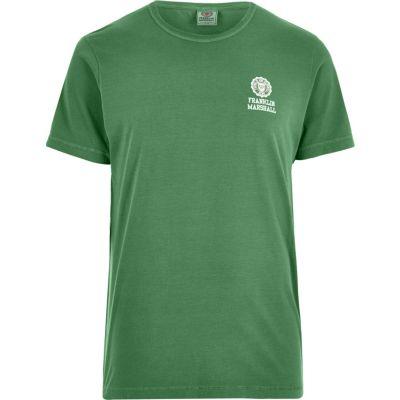 Franklin and Marshall Groen T-shirt met print