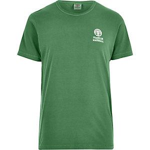 Franklin & Marshall - Groen T-shirt met print