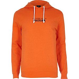 Orange 'disorder' city hoodie