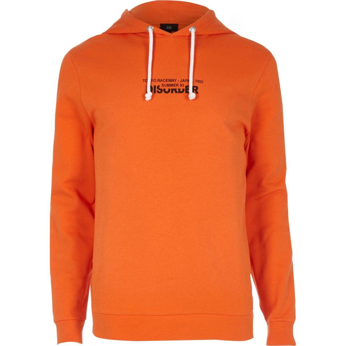 Orange 'disorder' city hoodie