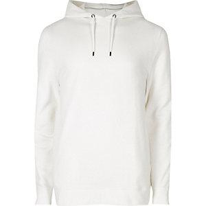 Witte hoodie met lange mouwen
