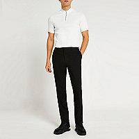 Schwarze, elegante Slim Fit Hose