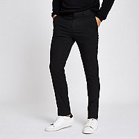Black skinny fit smart pants