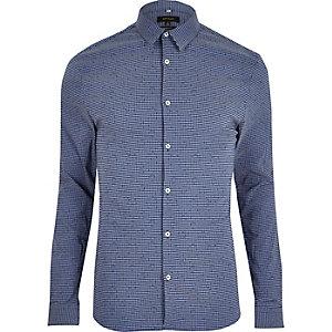 Blaues, elegantes Muscle Fit Hemd