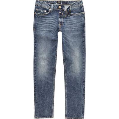 Dylan Middenblauwe slim-fit jeans