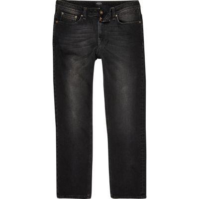 Dean Zwarte wash jeans met rechte pijpen