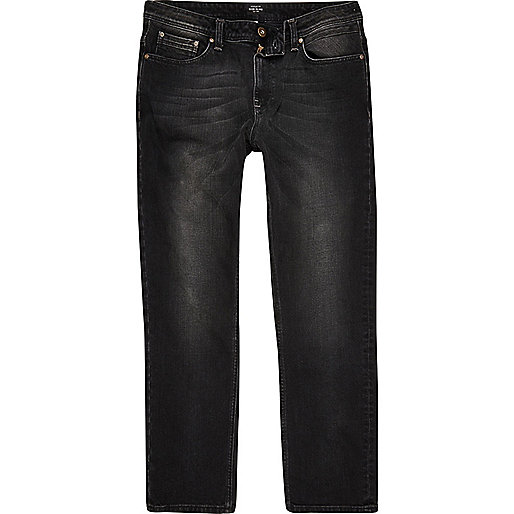 Black wash Dean straight leg jeans