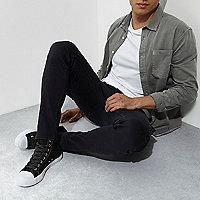 Grey skinny fit cargo jeans