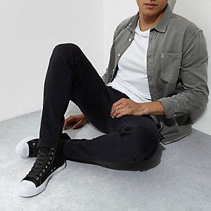 Graue Skinny Fit Cargo-Jeans