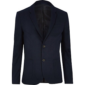 Big & Tall navy skinny blazer