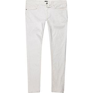 Ollie – Jean super skinny blanc délavé
