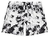 Black tie dye swim shorts