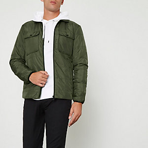 Khaki Only & Sons padded jacket