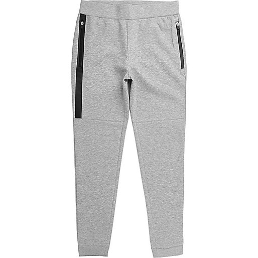 Grey Only & Sons zip side jogging bottoms