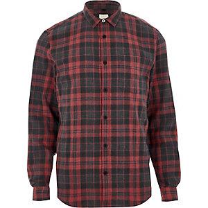 Rood geruit overhemd met lange mouwen