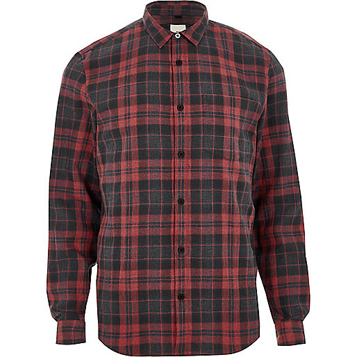 Red check long sleeve shirt