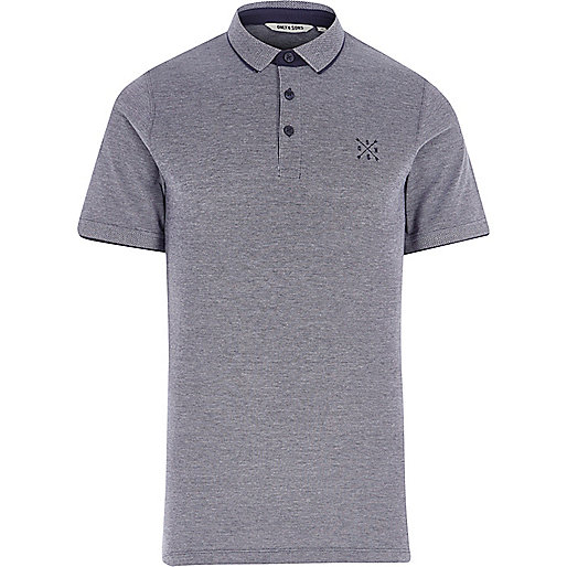 Blue Only & Sons tipped polo shirt